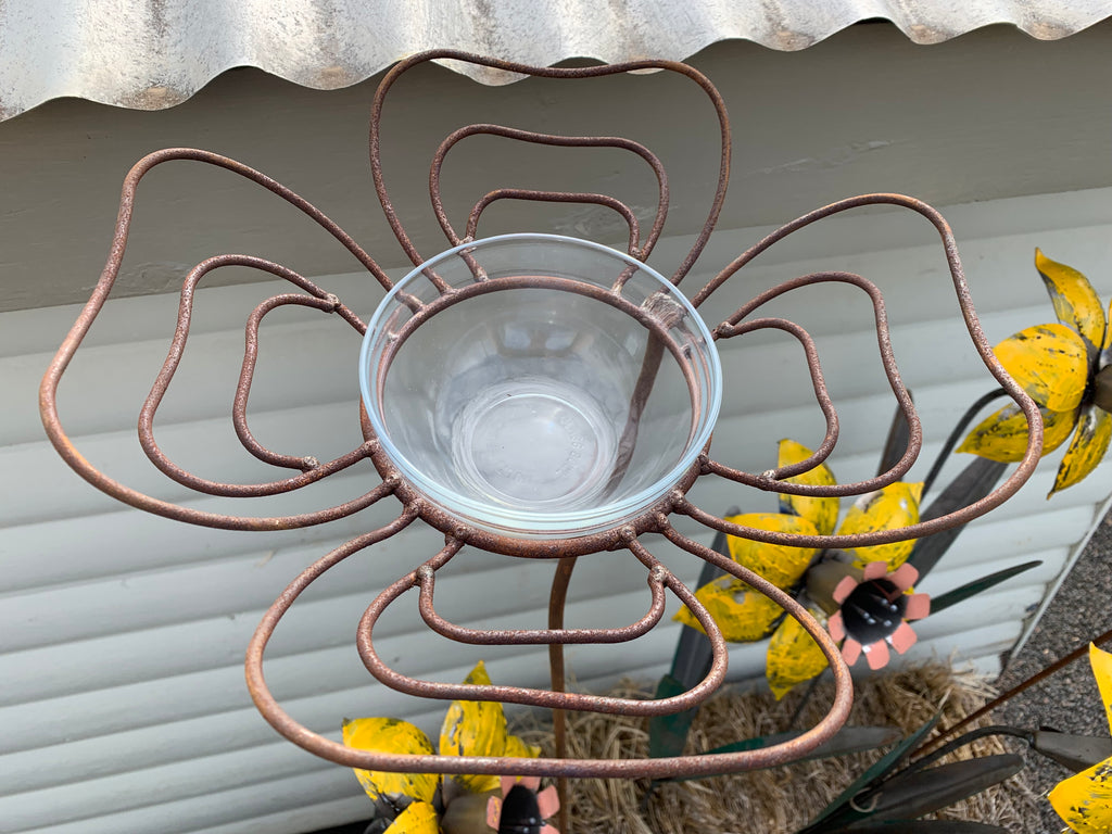 Rusty BUTTERFLY Feeder