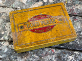 Vintage Gold Flake Metal Tin