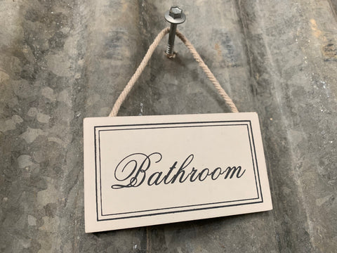 SET of Hanging Bathroom and Toilet SIGNS