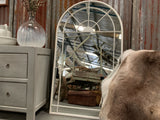 Beautiful white arched mirror