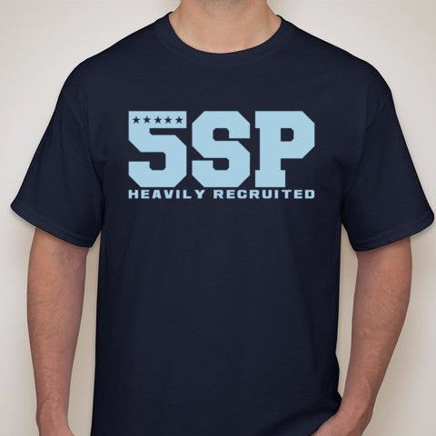 5SP - VARSITY LETTER (BLUE) T-SHIRT BY FIVE STAR PROSPECT