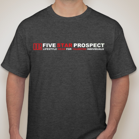 5SP - TALENTED INDIVIDUAL (RED&WHITE) T-SHIRT BY FIVE STAR PROSPECT