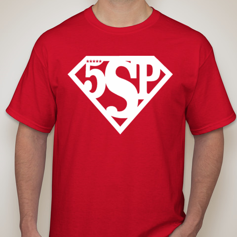 5SP - SUPER TALENT (REDSHIRT) T-SHIRT BY FIVE STAR PROSPECT