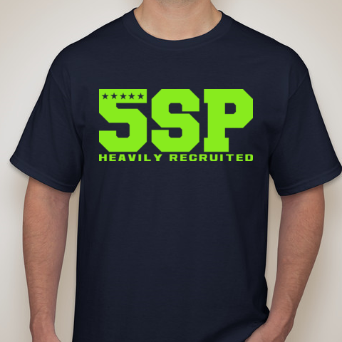 5SP - VARSITY LETTER (LIMEGREEN) T-SHIRT BY FIVE STAR PROSPECT