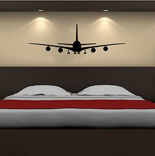 Airbus A-380 Super Jumbo Jet Airplane Silhouette Vinyl Wall Decal Sticker - Wall Decal