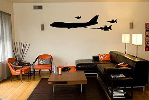 Boeing 747 Airplane Tanker Jet Refueling Fighter Jets Vinyl Wall Decal Sticker - Wall Decal
