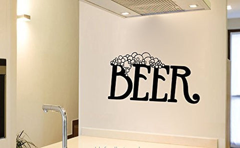 Beer Vinyl Wall Words Decal Sticker Graphic - Wall Decal