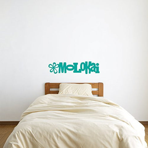 Molokai Hawaii Vinyl Wall Words Decal Sticker Graphic - Oakwood Decals - 1