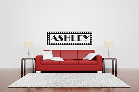 Custom Monogram Broadway Name Vinyl Wall Words Decal Sticker Graphic
