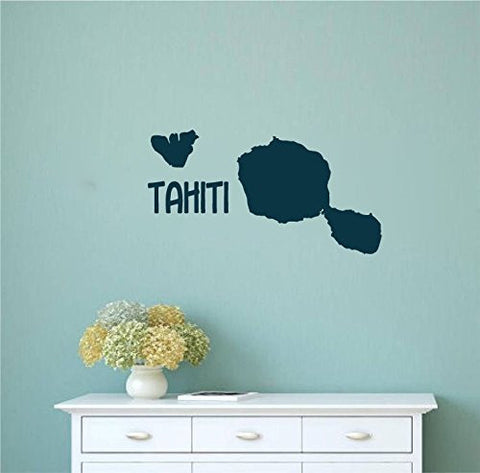 Tahiti French Polynesia Islands Silhouette Vinyl Wall Decal Sticker Graphic