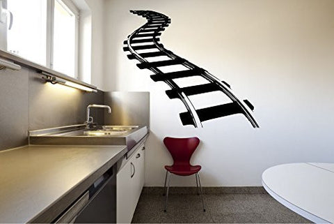 Train Tracks Vinyl Wall Decal Sticker Graphic
