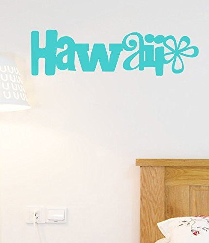 Hawaii Vinyl Wall Words Decal Sticker Graphic - Oakwood Decals - 1