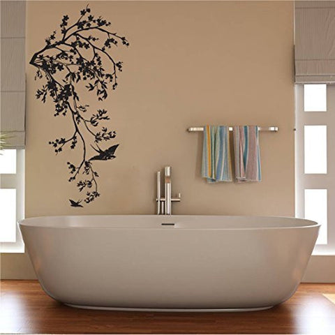 Branch and Birds Silhouette Vinyl Wall Decal Sticker Graphic