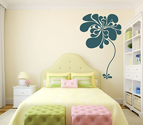 Flower Silhouette Vinyl Wall Decal Sticker Graphic