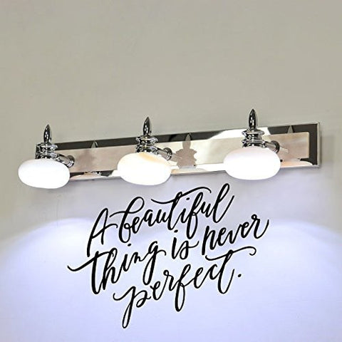 A Beautiful Thing is Never Perfect Vinyl Wall Words Decal Sticker Graphic