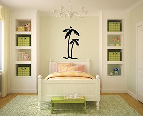 Simple Palm Tree Silhouette Vinyl Wall Decal Sticker Graphic