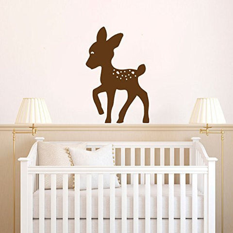 Deer Baby Fawn Silhouette Vinyl Wall Decal Sticker