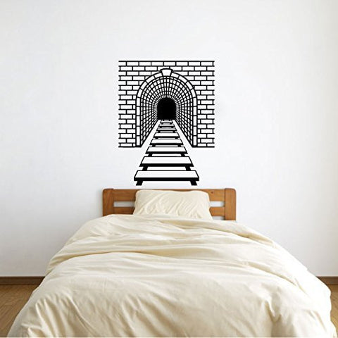 Train Tracks and Tunnel Vinyl Wall Decal Sticker Graphic