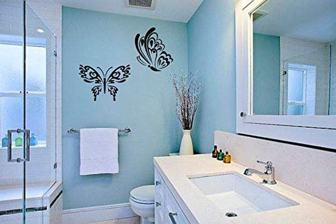Butterflies Silhouette Vinyl Wall Decal Sticker Graphic - Oakwood Decals - 1