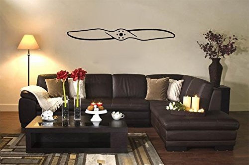Airplane Propeller Silhouette Vinyl Wall Decal Sticker - Wall Decal