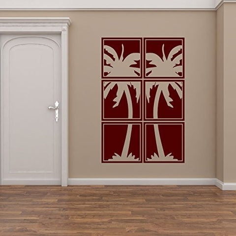 Palm Tree Silhouette Vinyl Wall Decal Sticker Graphic