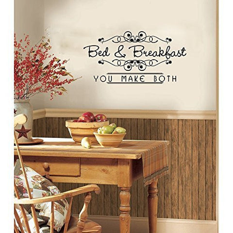 Bed and Breakfast You Make Both Vinyl Wall Words Decal Sticker Graphic - Wall Decal