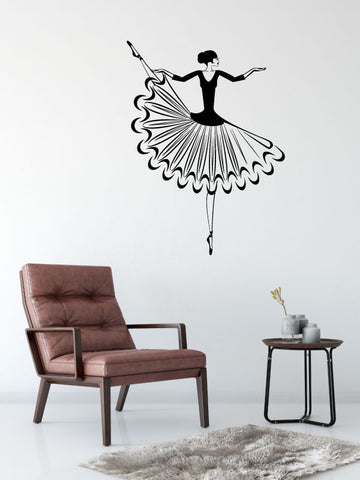 Elegant Ballerina Ballet Vinyl Wall Words Decal Sticker Graphic