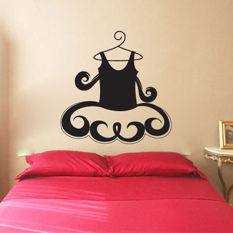 Ballerina Ballet Dress Vinyl Wall Words Decal Sticker Graphic