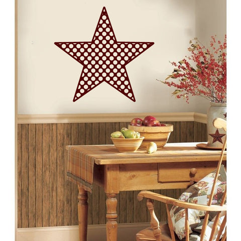 Americana Country polka Dots Barn Star Vinyl Wall Decal Sticker Graphic - Wall Decal