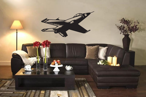 US Air Force F-16 Thunderbird Fighter Jet Airplane Vinyl Wall Decal Sticker - Oakwood Decals - 1