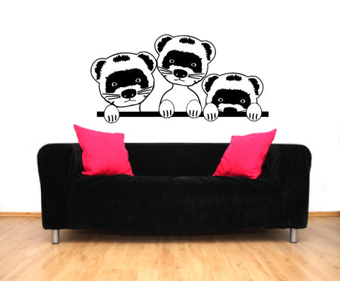 Ferrets Vinyl Wall Decal Sticker Graphic - Oakwood Decals - 1