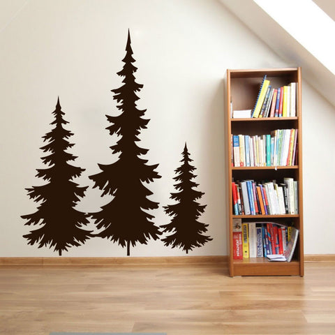 Alpine Fir Pine Trees Vinyl Wall Decal Sticker Graphic