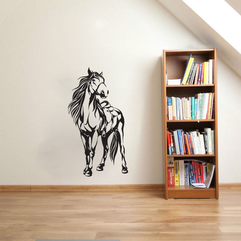 Horse and Saddle Vinyl Wall Decal Sticker Graphic