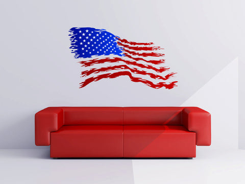 American Flag Vinyl Wall Decal Sticker - Wall Decal