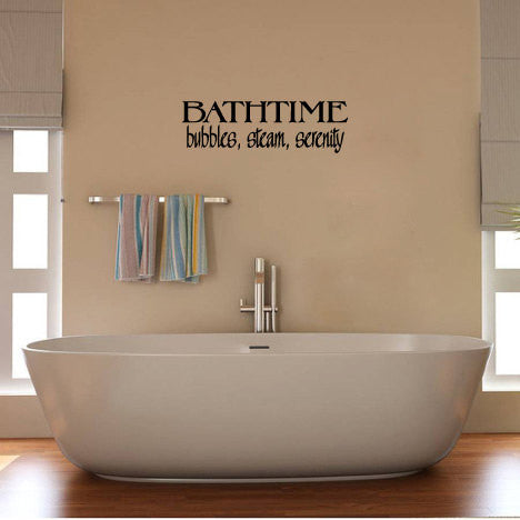 Bath Vinyl Wall Words Decal Sticker - Wall Decal