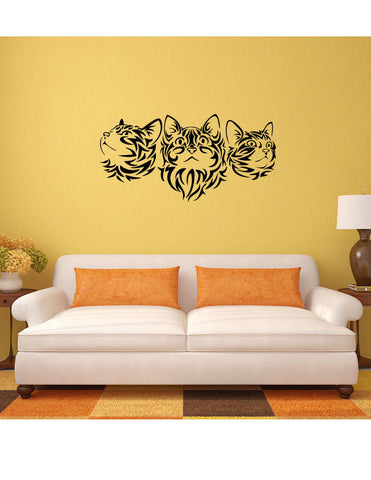 Cats Silhouette Vinyl Wall Decal Sticker - Oakwood Decals - 1