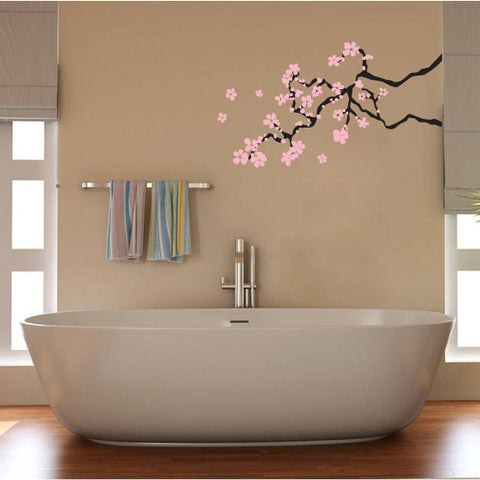 Cherry Blossom Branch Vinyl Wall Decal Sticker - Oakwood Decals - 1