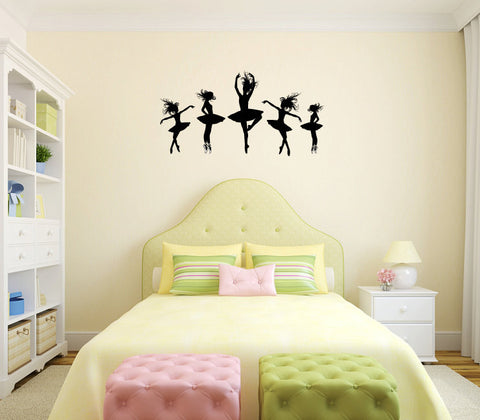 Ballet Ballerina Dancers Vinyl Wall Words Decal Sticker - Wall Decal