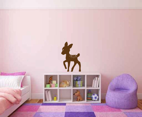Baby Deer Fawn Silhouette Vinyl Wall Decal Sticker - Wall Decal