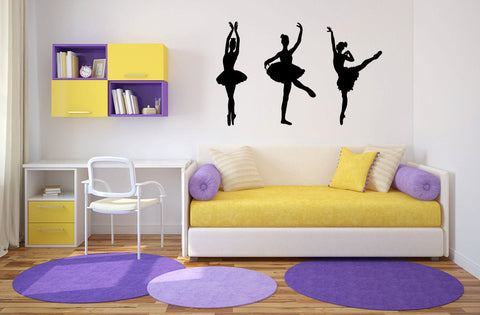 Ballet Ballerina Dancers Vinyl Wall Decal Sticker Graphic - Wall Decal