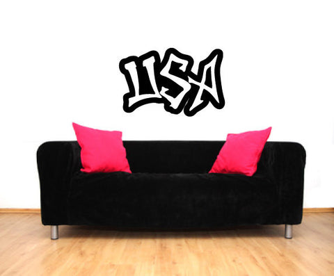 USA Graffiti Vinyl Wall Words Decal Sticker - Oakwood Decals - 1