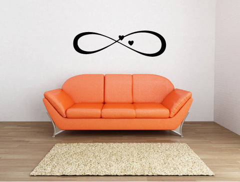 Infinity Heart Symbol Vinyl Wall Words Decal Sticker - Oakwood Decals - 1