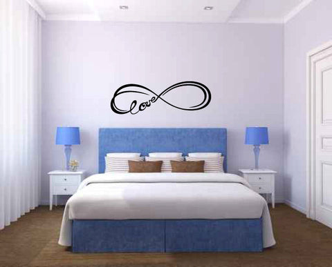 Infinity Love Symbol Vinyl Wall Words Decal Sticker  - 1