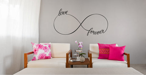 Infinity Love Forever Symbol Vinyl Wall Words Decal Sticker - Oakwood Decals - 1