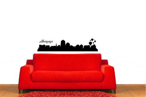 Alburqueque City Skyline Vinyl Wall Decal Sticker Graphic - Wall Decal