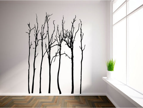 Bare Winter Trees Vinyl Wall Decal Sticker Graphic - Wall Decal