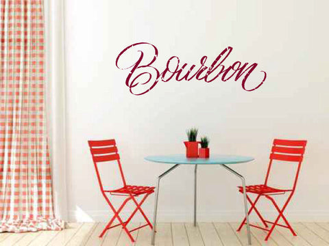 Bourbon Vinyl Wall Words Decal Sticker Graphic  - 1