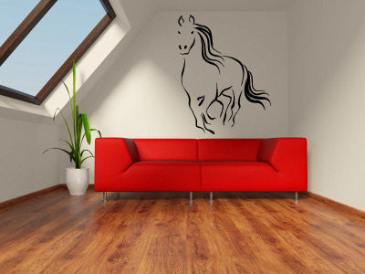 Horse Running Vinyl Wall Decal Sticker Graphic  - 1