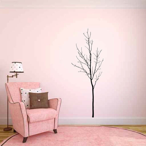 Bare Young Tree Vinyl Wall Decal Sticker Graphic - Wall Decal