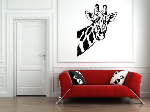 Giraffe Face Vinyl Wall Decal Sticker  - 1